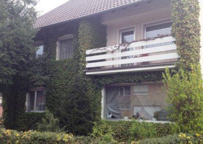 Hausfassade Straßenfront (vorher)