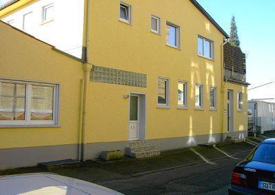 Fassade eines Gewerbebetriebs (Rückseite)