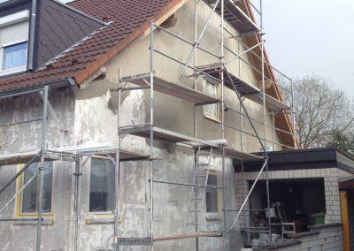 Hausfassade Seitenansicht (Putzerneuerung)