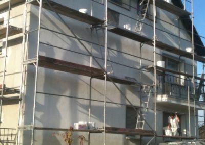 Hausfassade Seitenansicht (Zwischenbeschichtung)